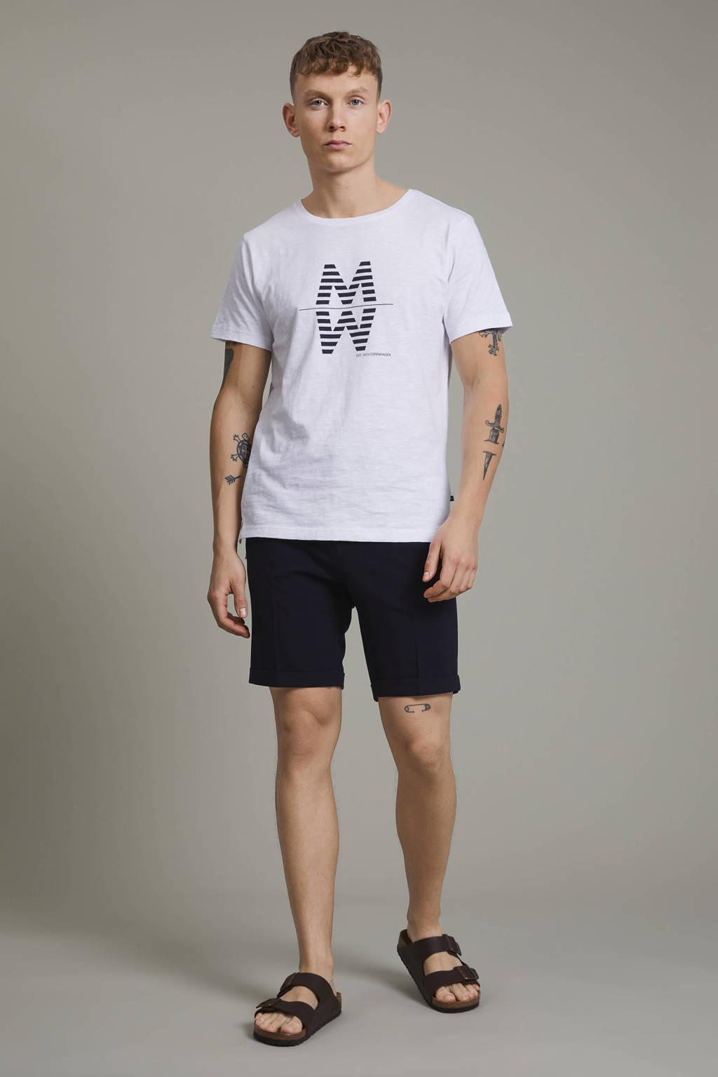 Matinique T-shirt MAslubon met printopdruk wit, Wit