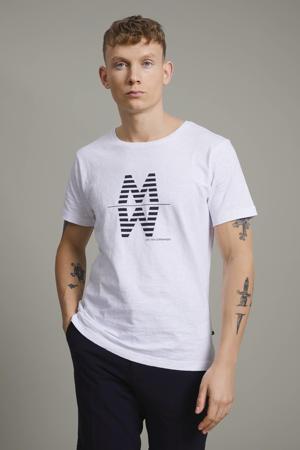 T-shirt MAslubon met printopdruk wit