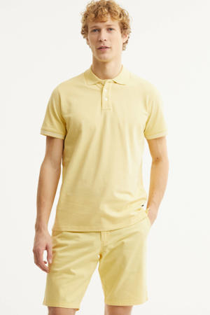 regular fit polo lichtgeel
