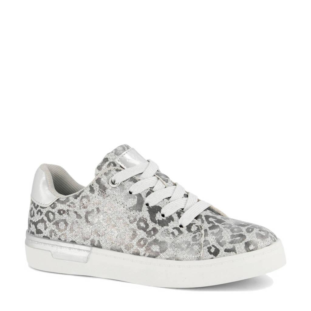 Cupcake Couture   sneakers met panterprint zilver, Zilver
