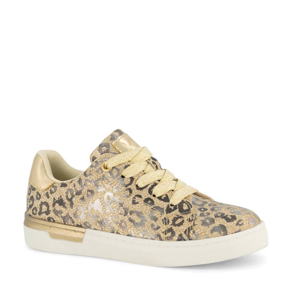 Cupcake Couture   sneakers met panterprint goud, Goud