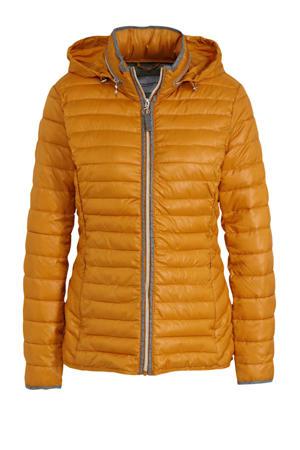 gewatteerde jas oranje