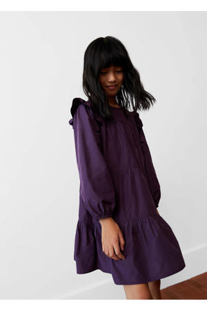 A-lijn jurk met ruches paars