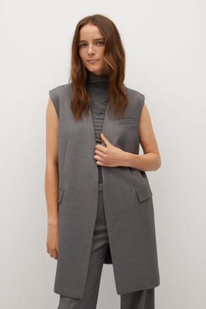 gemêleerd gilet van gerecycled polyester grijs