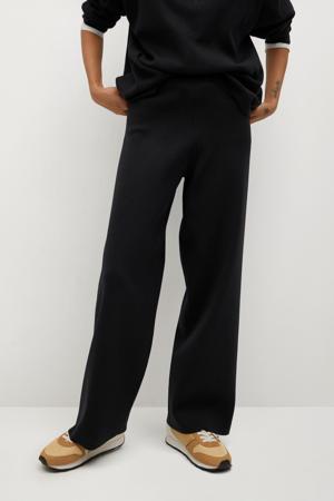 high waist palazzo broek zwart