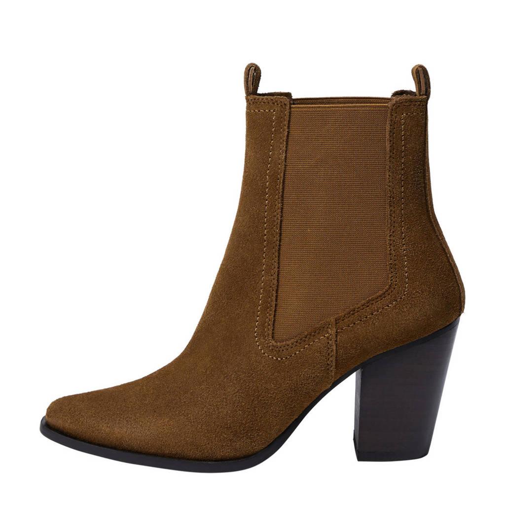 Mango   suède chelsea boots bruin, Bruin