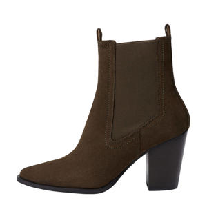 suède chelsea boots donkerbruin