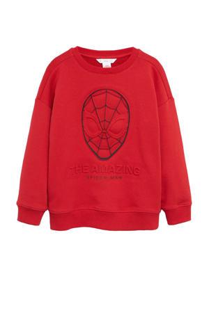 Spider-Man sweater met printopdruk rood/zwart