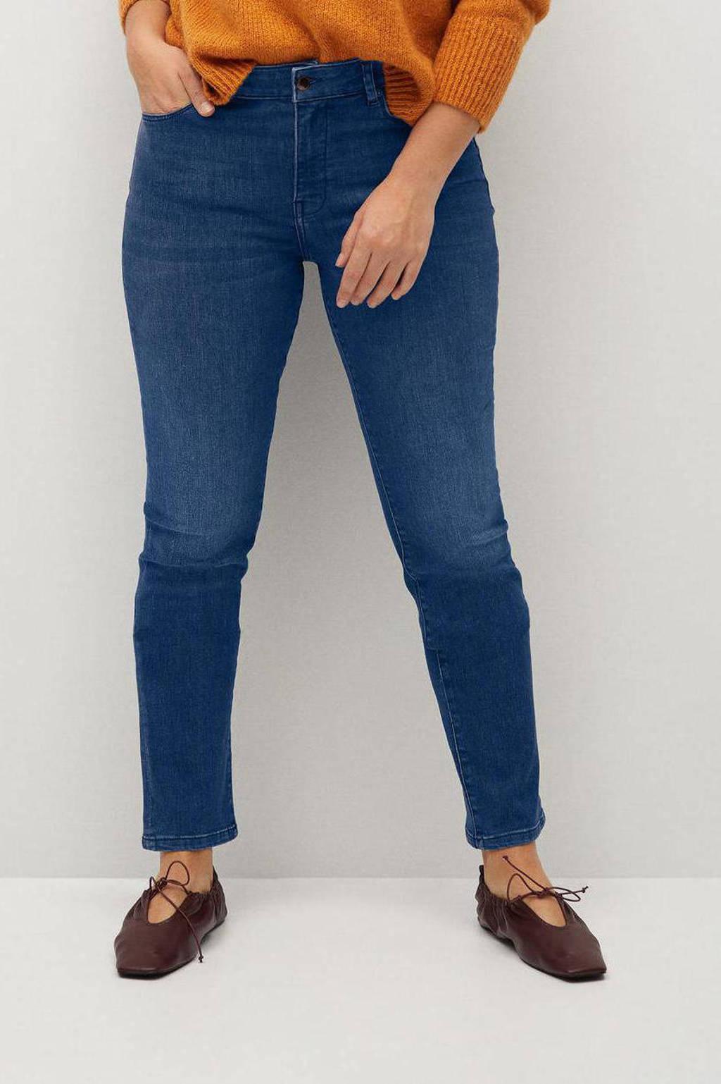 Violeta by Mango slim fit jeans Valentina blue