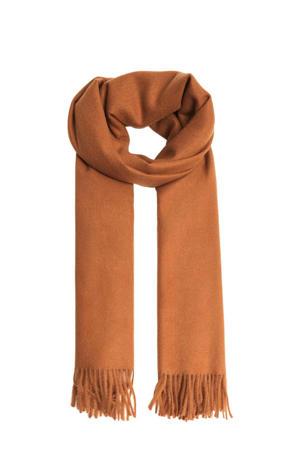 sjaal met franjes brique