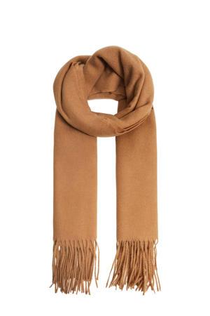 sjaal met franjes camel