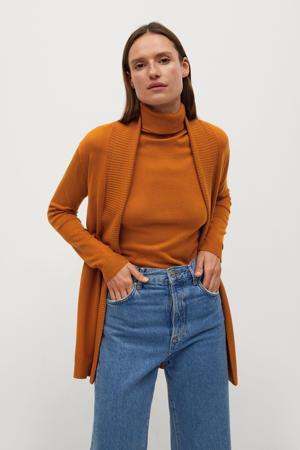 fijngebreide top oranje