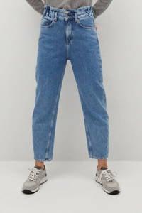Mango cropped high waist straight fit jeans light blue, Light Blue