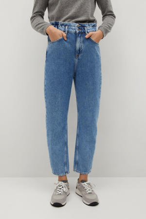 cropped high waist straight fit jeans light blue