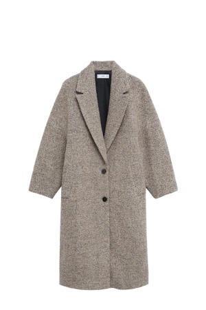 gemêleerde wollen  coat beige