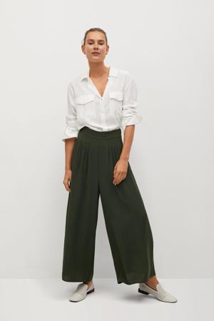 high waist culotte kaki