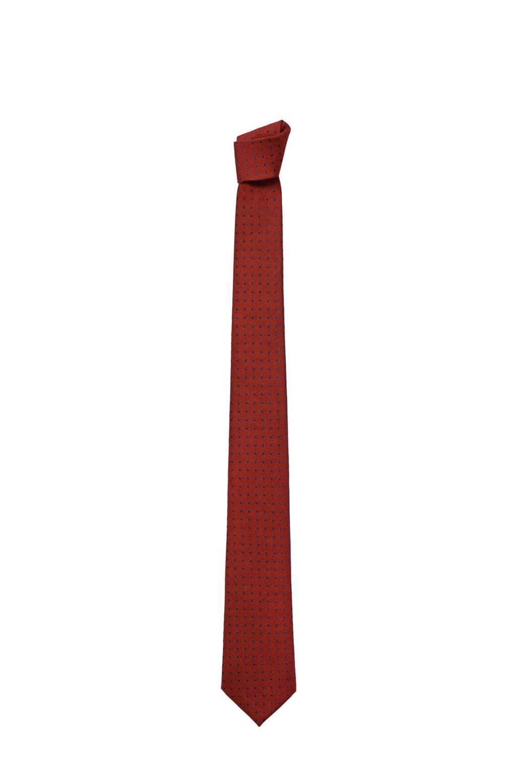 Mango Man stropdas rood/zwart, Rood/zwart