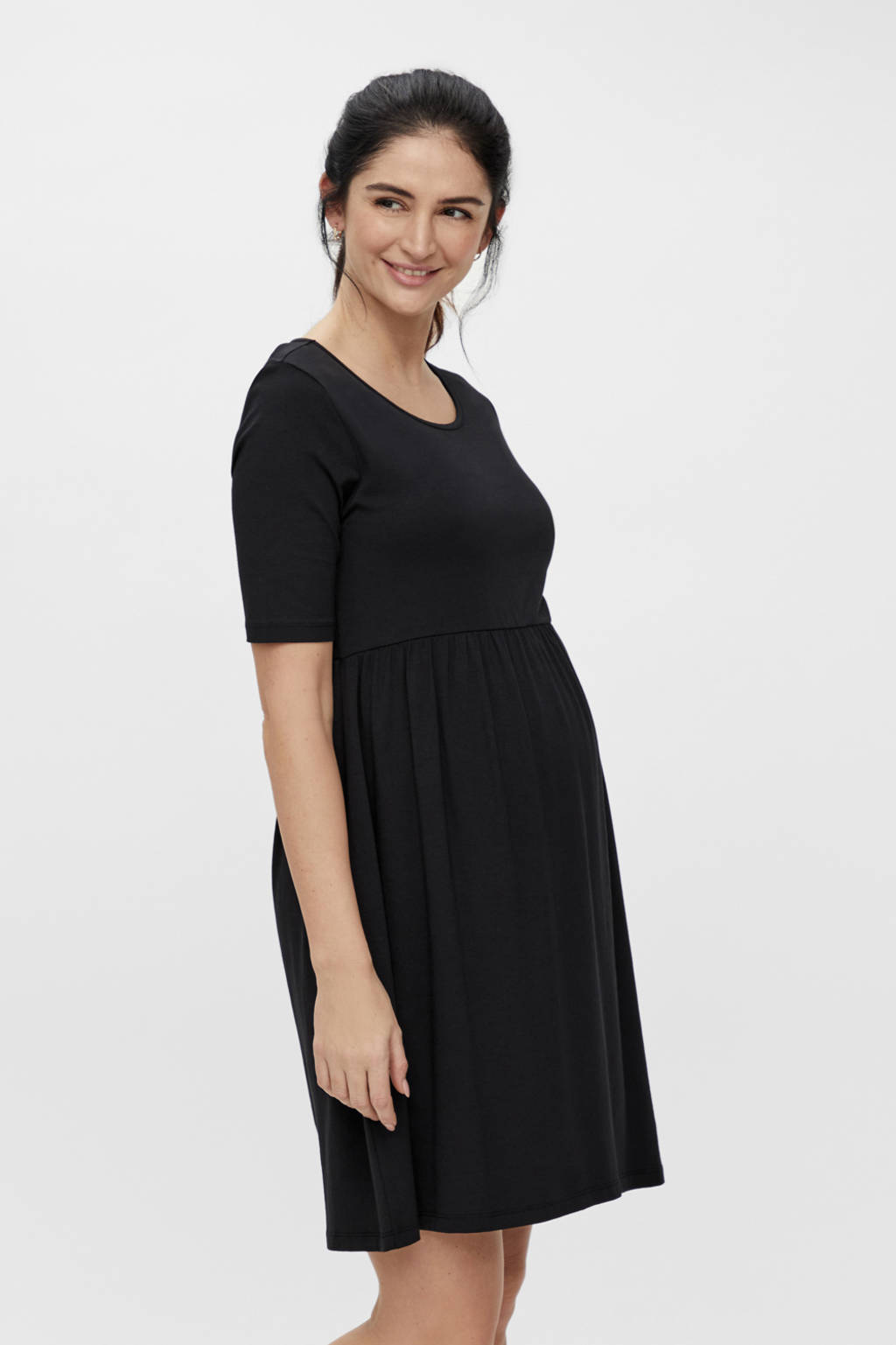 MAMALICIOUS zwangerschapsjurk Elnora zwart, Zwart