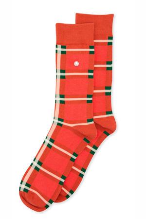 sokken Classic Check rood/groen