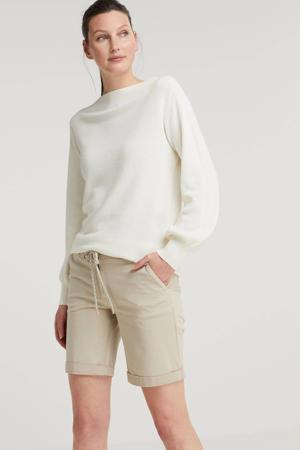 straight fit broek beige