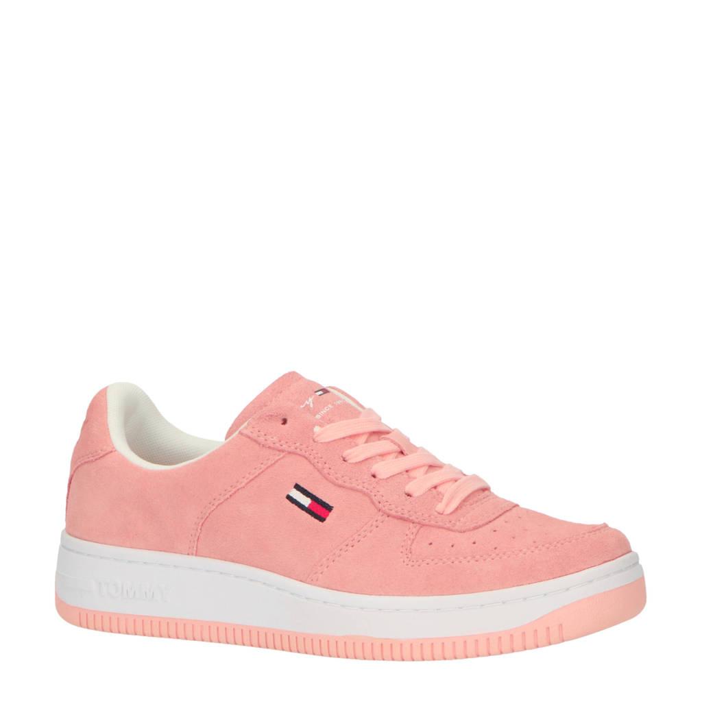 Tommy Jeans Pastel  suède sneakers roze, Roze/Pink Opal