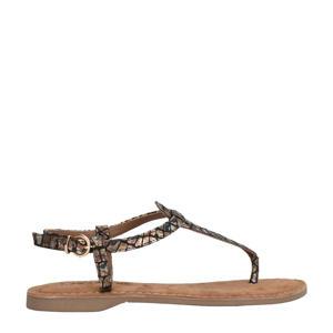 75.613 sandalen met slangenprint bruin