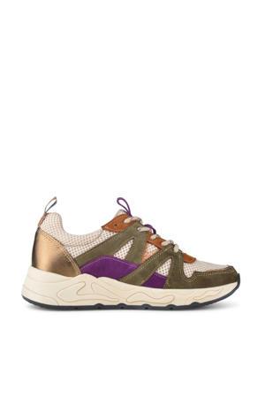 Minion  suède sneakers olijfgroen/multi