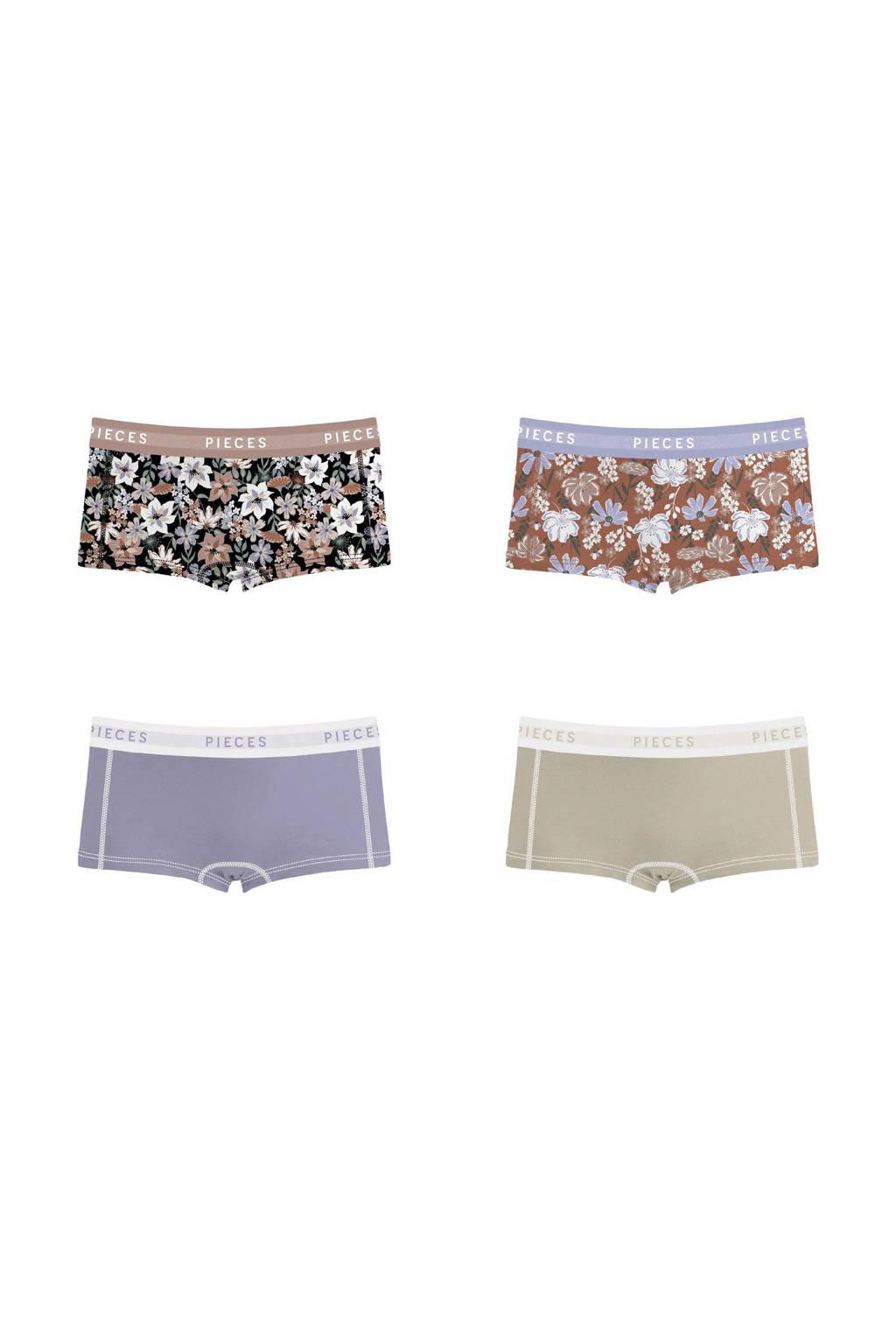 PIECES short (set van 4), Lavendel/Multi
