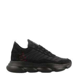 13483  leren chunky sneakers zwart