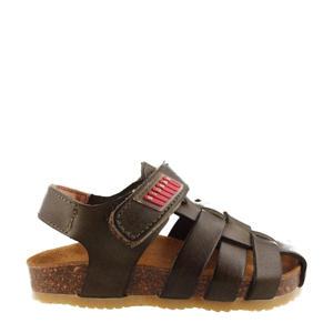 19115  leren sandalen donkergroen