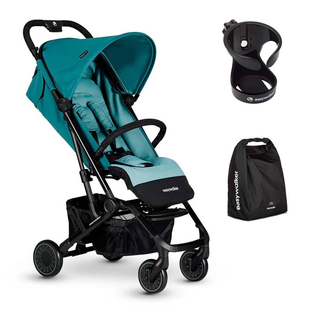 Easywalker buggy XS Ocean Blue+ gratis transporttas en cupholder, Blauw