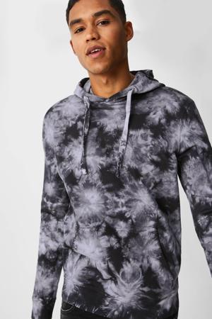 tie-dye hoodie van biologisch katoen zwart