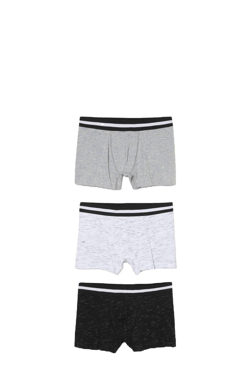 C&A Angelo Litrico boxershort (set van 3), Zwart/grijs/wit