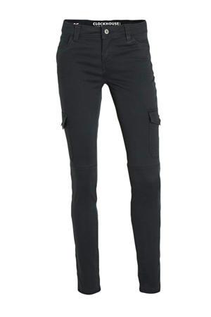 skinny cargobroek zwart