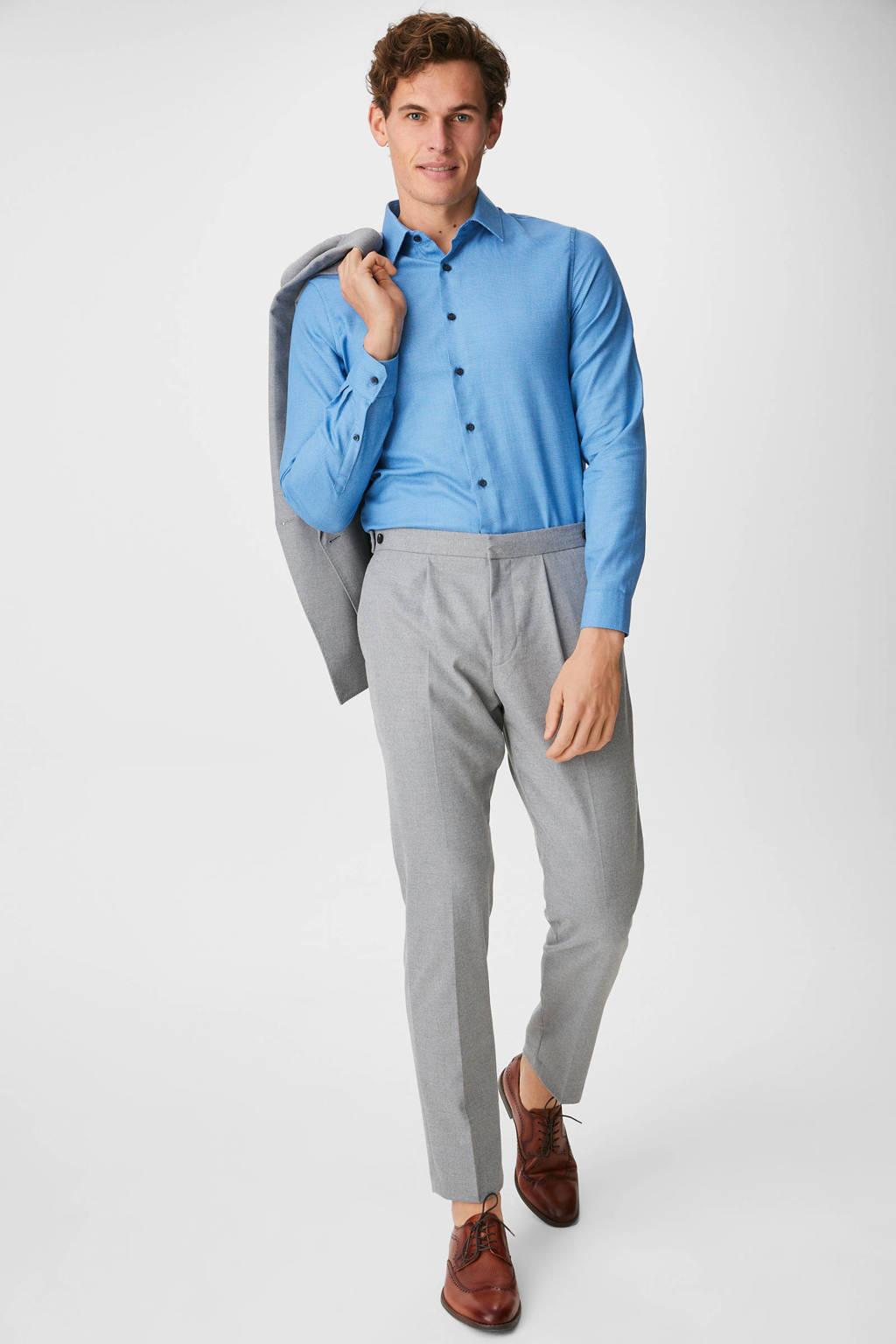C&A Angelo Litrico slim fit overhemd blauw, Blauw