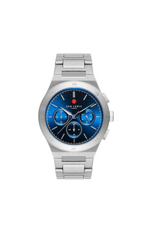 chrono horloge Moorgate  SL1100054 blauw/zilverkleurig