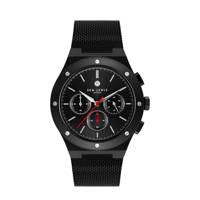 Sem Lewis Moorgate Chrono horloge zwart - SL1100044, Zwart
