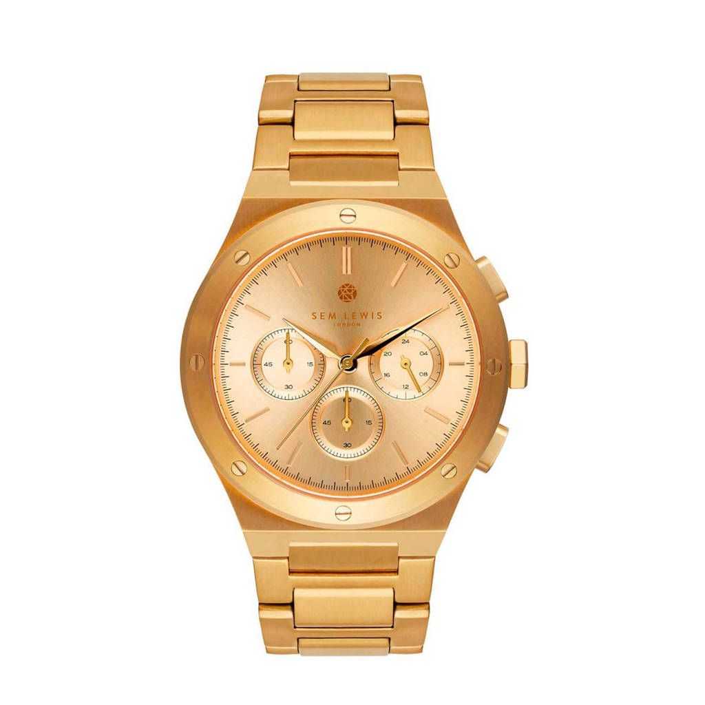 Sem Lewis horloge Moorgate SL1100052 goudkleurig, Goudkleurig