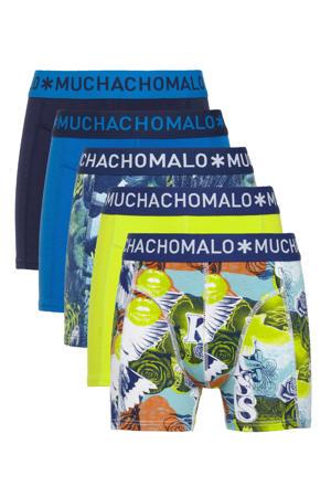 boxershort - set van 5 multi blauw/geel/zwart