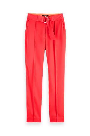 slim fit broek rood