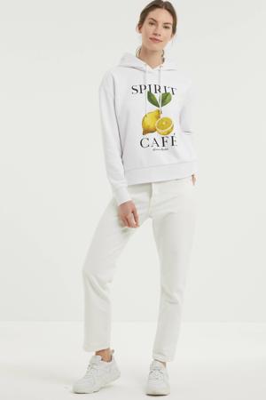 hoodie met printopdruk wit