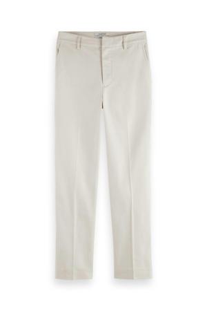 cropped slim fit broek met biologisch katoen gebroken wit