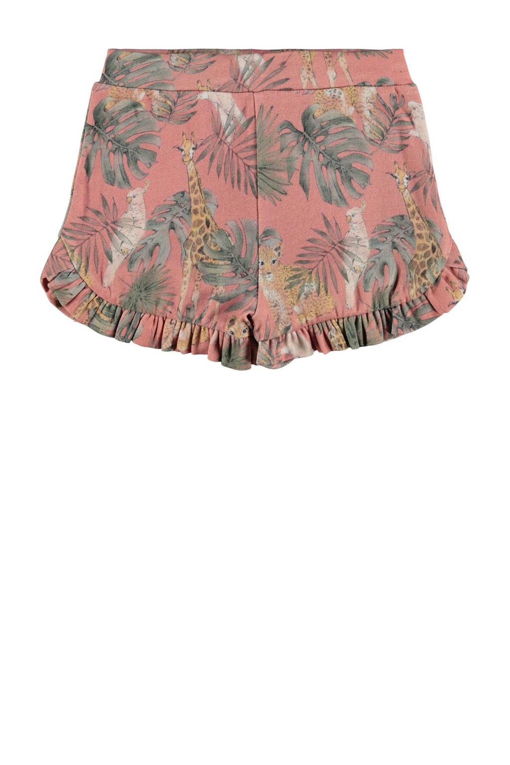 NAME IT MINI korte broek Janna met biologisch katoen roze, Roze