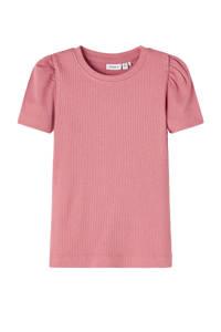 NAME IT MINI T-shirt Hanilla met biologisch katoen oudroze, Oudroze