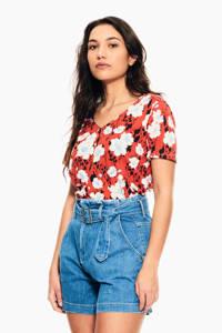 Garcia T-shirt D103_ladies T-shirt s met all over print rood, Rood