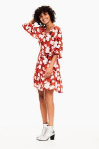 Garcia jurk met all over print rood, Rood