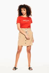 Garcia T-shirt D101_ladies T-shirt ss met tekst rood, Rood