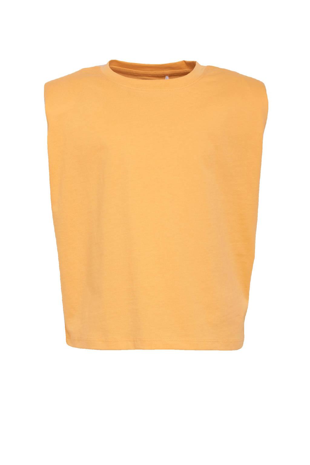 NAME IT KIDS top Jueniz van biologisch katoen oranje, Oranje
