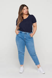Zizzi cropped mom jeans JTULLA light denim, Light denim