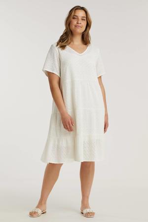 A-lijn jurk MANNE met volant wit